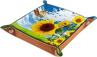 Vockgeng Tournesol Boîte de Rangement Panier Organisateur de Bureau Plateau décoratif approprié pour Bureau à Domicile tir...