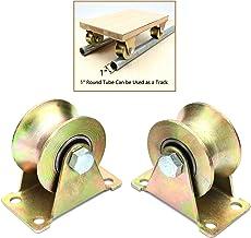 Industrial Machines SOONHUA 2pcs 2 V Type Wheel Track Rail W//Bracket Sliding Gate Roller Steel for Rolling Gate Sliding Gate Wire Rope Rail,