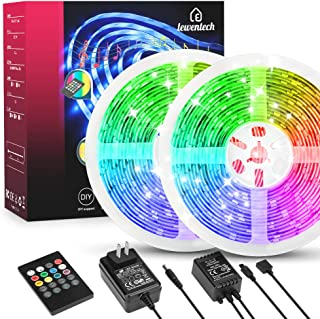 LED Strip Lights 32.8ft RGB Led Light Strip Music Sync Color Changing Lights with 20keys Remote Controller, 300 LEDs SMD5050 Waterproof Led Lights for Bedroom, Party, TV and Home Decoration