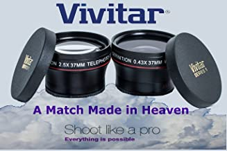 Wide Angle & Telephoto Lens for Olympus OM-D E-M5 E-M10 Mark II Pen E-PL7 E-PL6 (37mm Compatible)