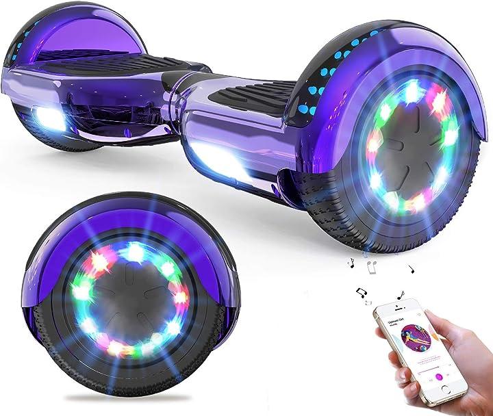 Hoverboards auto bilanciamento scooter 6.5``regalo per bambini e adulti-bluetooth altoparlanti led luci geekme B07PQ93RMP