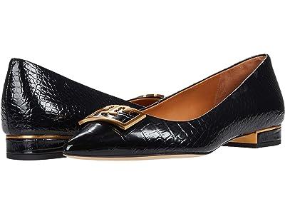 Tory Burch 20 mm Gigi Pointy Toe Flat (Perfect Black) Women