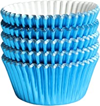 Blue-Foil Cupcake-Liners Paper-Baking-Cupcake,for different Parties, Weddings,Standard Sized(pack of 100)