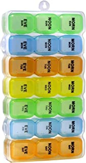 Pill Organizer, Medicine Organizer, Vitamin Organizer (Weekly - 3 Compartment) (828)
