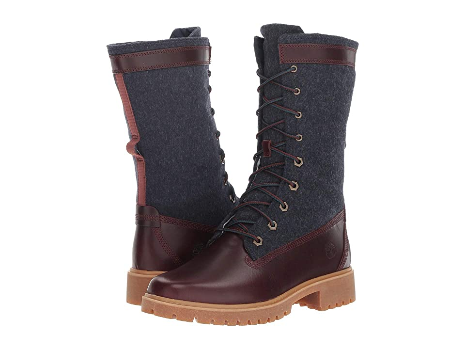 Timberland Jayne Warm Gaiter Boot (Burgundy Full Grain) Women