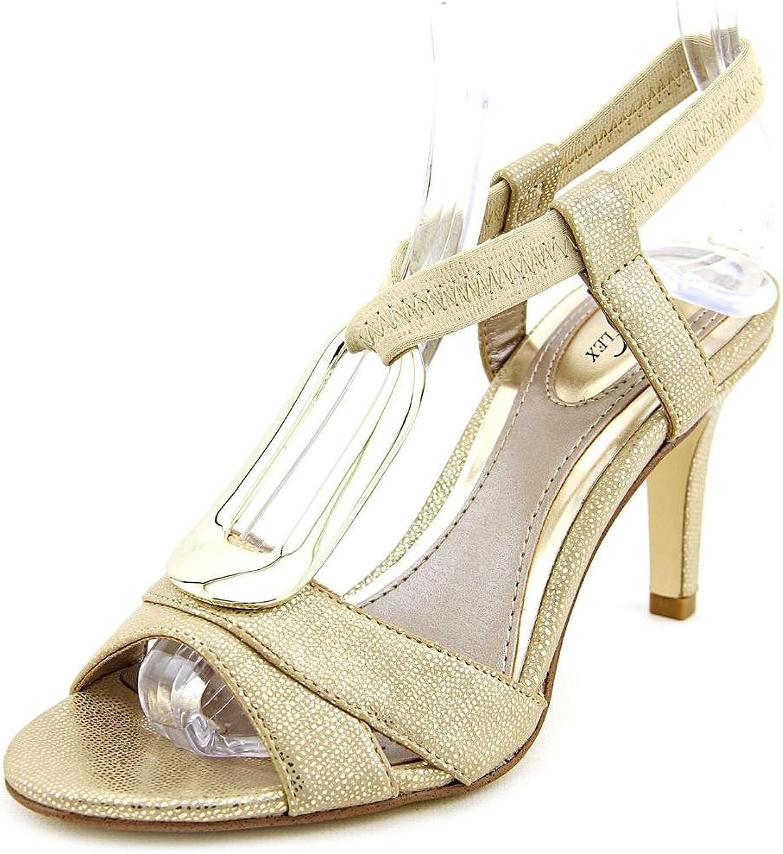 Alfani Womens DESTYNE Open Toe Casual Ankle Strap Sandals, gold, Size 8.0