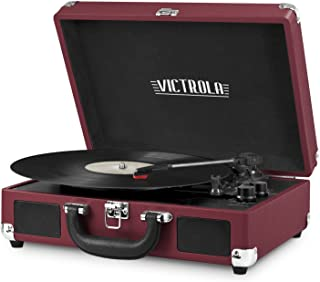 Sponsored Ad - Victrola Vintage 3-Speed Bluetooth Portable Suitcase Record Player with Built-in Speakers | Upgraded Turnta...