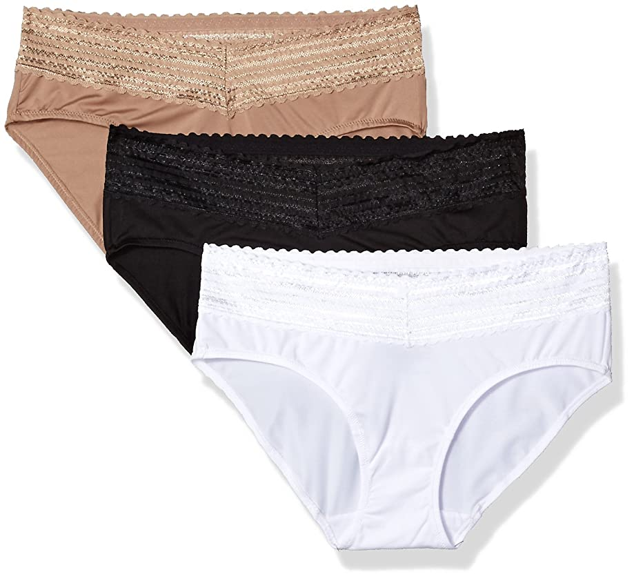 Warner's Women's Blissful Benefits No Muffin Top 3 Pack Lace Hipster Panties