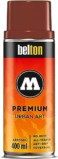 Molotow Belton Premium Artist Spray Paint, 400ml Can, Cocoa, 1 Each (327.126)