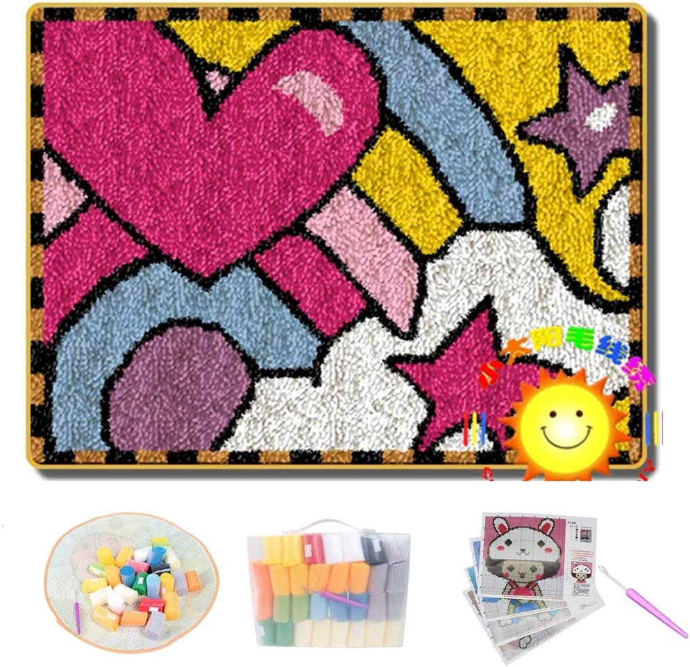 Latch Ranking TOP1 Hook Kits DIY Love Rainbow Fresno Mall with Floor Printed Mat Pattern