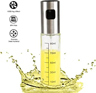GWHOLE Oil Sprayer Dispenser 100ML with Scale, Oil & Vinegar Sprayer/Dispenser/Oil Spray Bottle