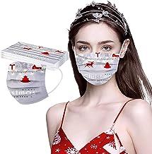 10 Piezas Masks-Mascarillas Adultos Visera Navidad