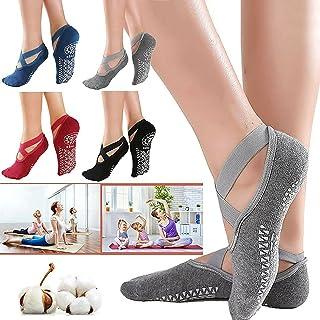 Simxen Women's Anti Bacterial Anti-Skid Yoga/Pilates/Dance/Ballet Made with Bamboo Cotton Walking & Bikram Fitness Socks w...