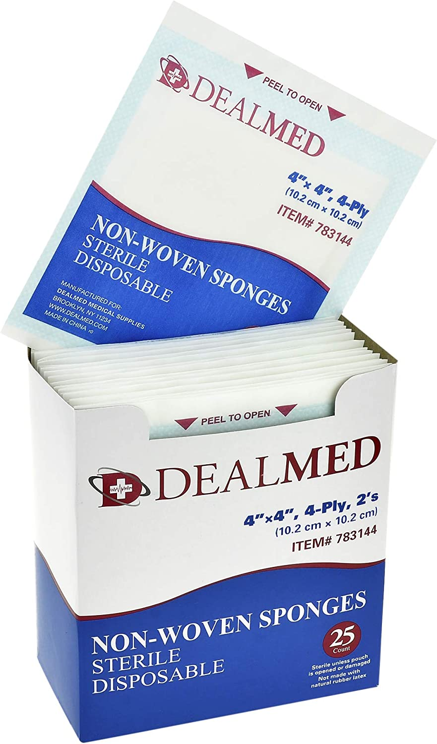 San Mail order Diego Mall Dealmed Brand Non-Woven Sponges Gauze High All-Purpose Sterile