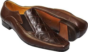 Mauri Men's Genuine Alligator Italian Slip-On Loafer Dress Shoes 0216