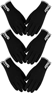 Best Womens Winter Warm Gloves With Sensitive Touch Screen Texting Fingers, Fleece Lined Windproof Gloves Reviews