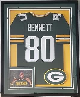 Martellus Bennett Autographed Signed Jersey Framed Green Bay Packers Memorabilia JSA
