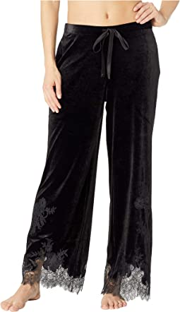 Natalie Velvet Pants w/ Lace