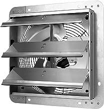 iPower 12 Inch Shutter Exhaust Fan Aluminum,High Speed 1620RPM, 1600 CFM, 1-Pack, Silver