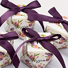 Gift Packing Box Wedding Favor Box and Bags Sweet Gift Candy Boxes for Wedding Baby Shower Birthday Guests Favors Event Party Supplies (100)
