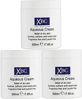 Crema Aqueous de XBC humectante grande de 500 ml alivio para la piel seca 3 unidades