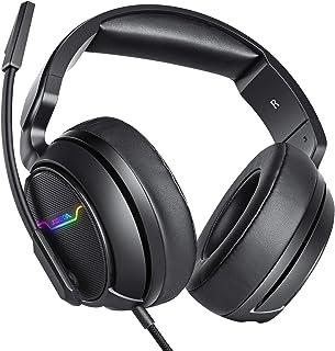 XIBERIA-Auriculares para Xbox One, PS4, Auriculares para Juegos, Auriculares estéreo de 3,5 mm con micrófono de Memoria Suave para PC, Ordenador portátil, Videojuego con Control de Volumen Flexible