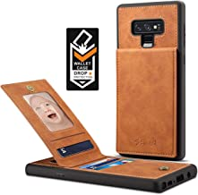 Spaysi Samsung Galaxy Note 9 Card Holder Case, Note 9 Wallet Case Slim, Galaxy Note 9 Folio Leather case, Flip Cover, Gift Box, for Note9 (Brown)