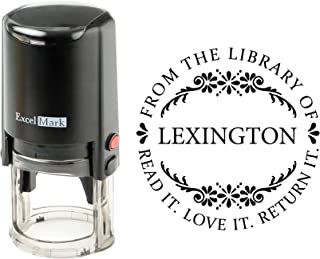 Round Self Inking Teacher Stamp (from The Library of)