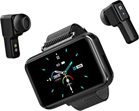 Conqueror Outdoors, Black Smart Watch with Bluetooth, Smartwatch with Heart Rate Monitor, Fitness Activity Tracker with Sl...