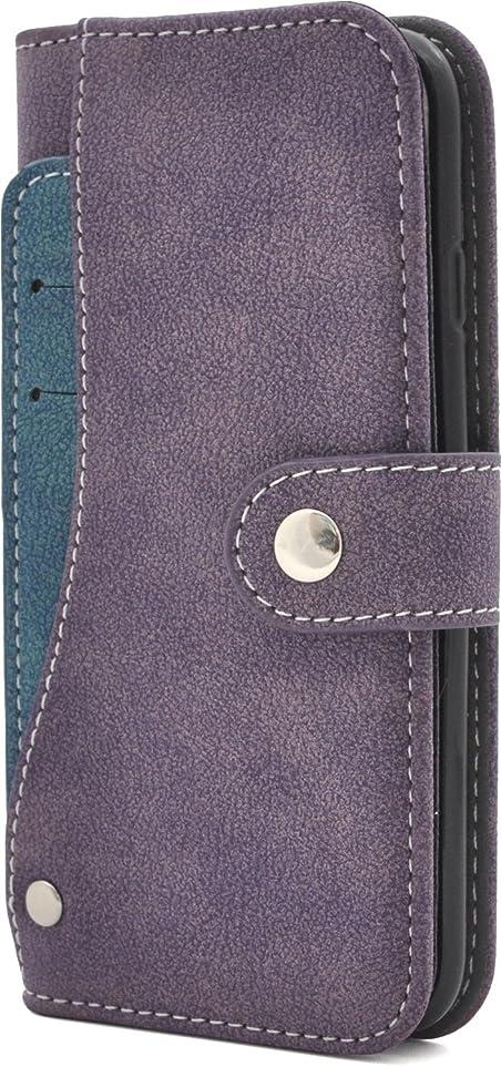 以下ソフィー広がりPLATA  iPhone7 / iPhone8 ケース 手帳型 スライド カード ポケット ソフト レザー ケース カバー iPhone 7 / 8 【 パープル 紫 むらさき purple 】 IP7-6217PP