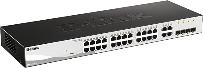 D-Link Systems 28-Port Gigabit Web Smart Switch including 4 Gigabit SFP Ports (DGS-1210-28)