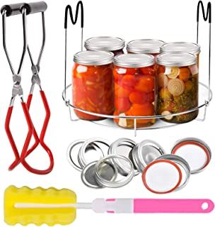 Voaesdk Canning Rack,15 Pcs Canning Essentials Kit,Stainless Steel Canning Jar Rack Canner Steamer Rack with Heat Resistan...