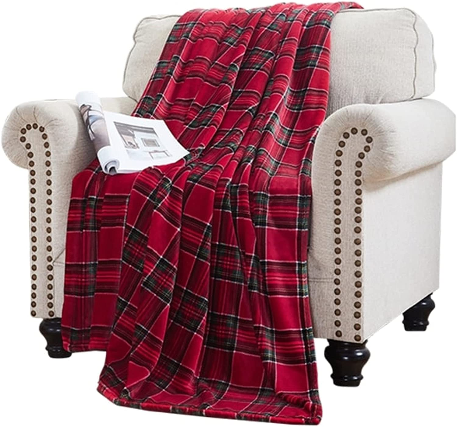 ELLE HOME Home Plush Oversized Throw Blanket - Silky Soft Flannel Fleece Soft and Cozy for Bed and Couch - Oversized Throw 60