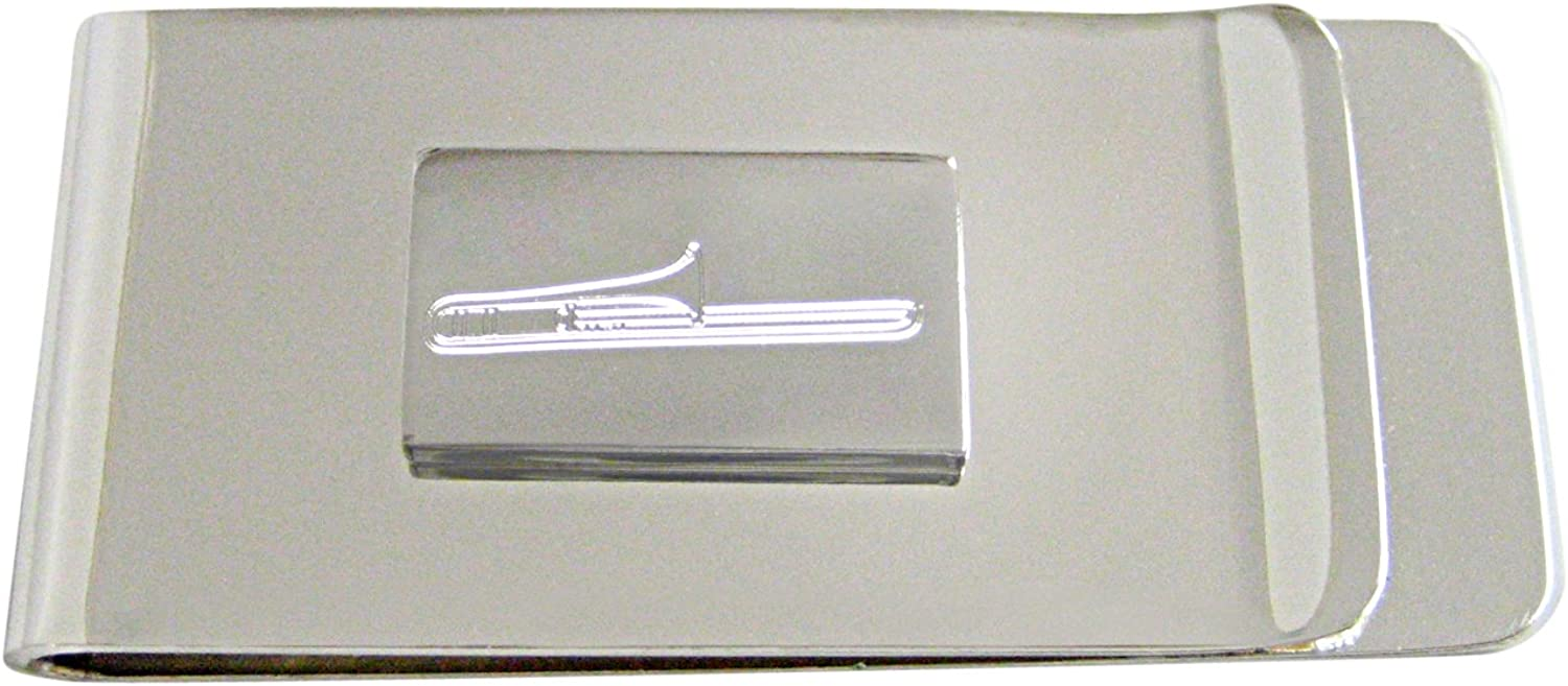 Max 88% OFF Kiola Designs Silver Toned Etched Trombone Max 77% OFF Mone Instrument Music