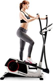 Marcy Self-Regenerating Magnetic Elliptical with 24 Adjustable Resistance Levels, 24 Workout Programs and Transport Wheels ME-704
