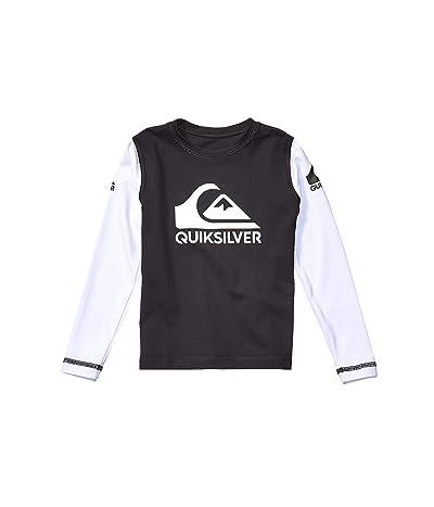Quiksilver Kids Heats On Long Sleeve Surf Shirt (Toddler/Little Kids) (Black) Boy
