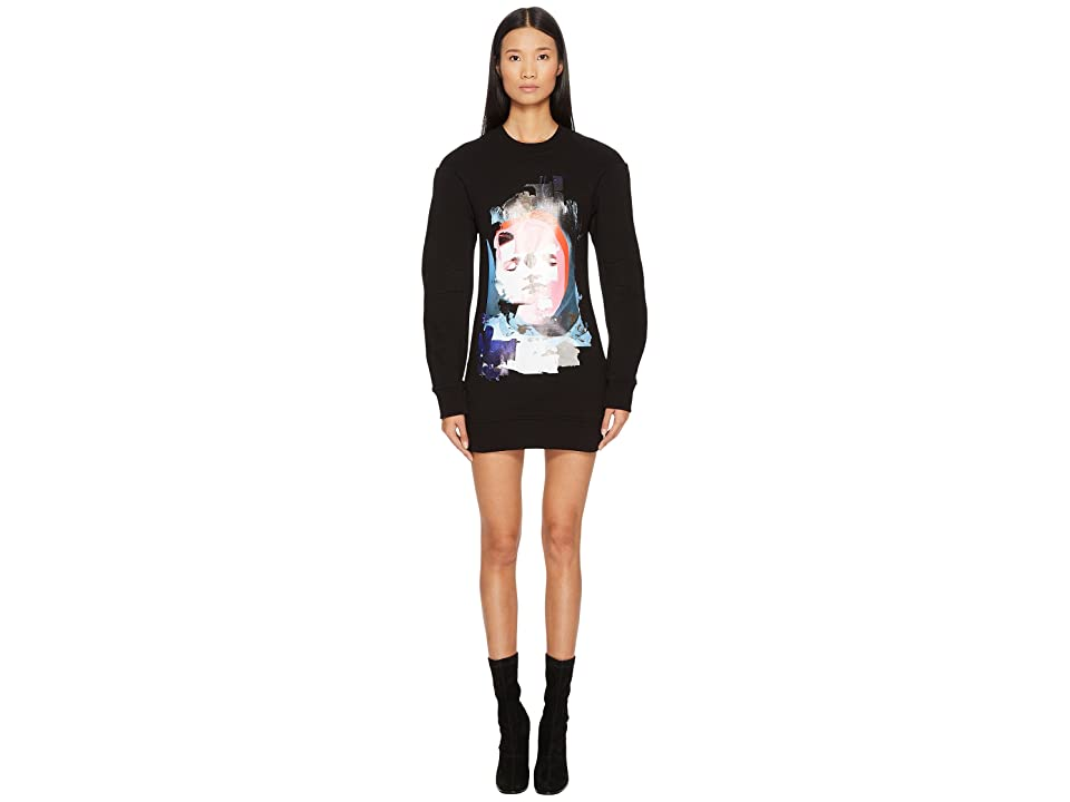 Versus Versace Sportivo Felpa Donna Printed Sweater Dress (Black/Stampa) Women