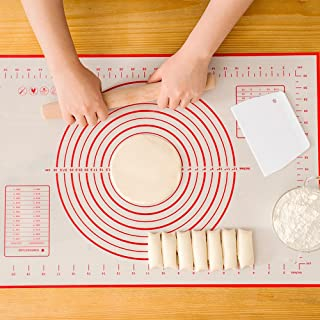 Silicone Baking Mat,Nonstick Pastry Mat Extra Large with Measurements for Baking -Fondant Mat,Dough Rolling Mat,Heat-Resistance Oven Liner,Pie Crust Mat,Flour pads,Baking Sheets(23.6 x 15.7 Inch)