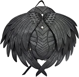 Punk Wing Leather Backpack Gothic Women Men Black Backpack Steampunk Fashion Bags