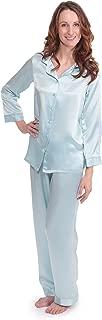 TexereSilk Women's 100% Silk Pajama Set - Luxury Sleepwear Pjs (Morning Dew)