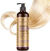 Purple Shampoo, Blue Shampoo, MagiForet Argan Oil Blonde Shampoo For Blonde Hair Grey Hair Silver Hair with Silk Essence, UV Protection, and Sulfate-Free Cleansing Agents, 16.9oz