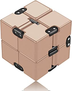 open up to love Infinity Cube Fidget Toy - Hand Killing Time Fidget Toy Rose Gold Prime Infinite Cube for ADD, ADHD, Anxiety, and Autism Adult and Children (Gold)