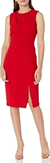 Calvin Klein Women's Sleeveless Sheath with Front Side Slit