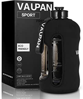 Vaupan 2.2L/73OZ Big Sport jug, Half Gallon Large Capacity Leakproof Water Bottle with Handle, BPA Free Tritan Plastic Drinking Container Flask for Gym Fitness Biking Outdoor Travel
