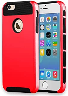 iBarbe iPhone 6 Case,iPhone 6s Case,2 in 1 Shock-Absorption Bumper Cover Anti-Scratch Rubber Plastic Heavy Duty Protection Slim Hard case for iPhone 6 (4.7