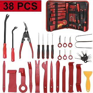 NovelBee 38 kits de herramientas de extracción de embellecedores, panel de coche, tablero de audio, herramienta de extracc...
