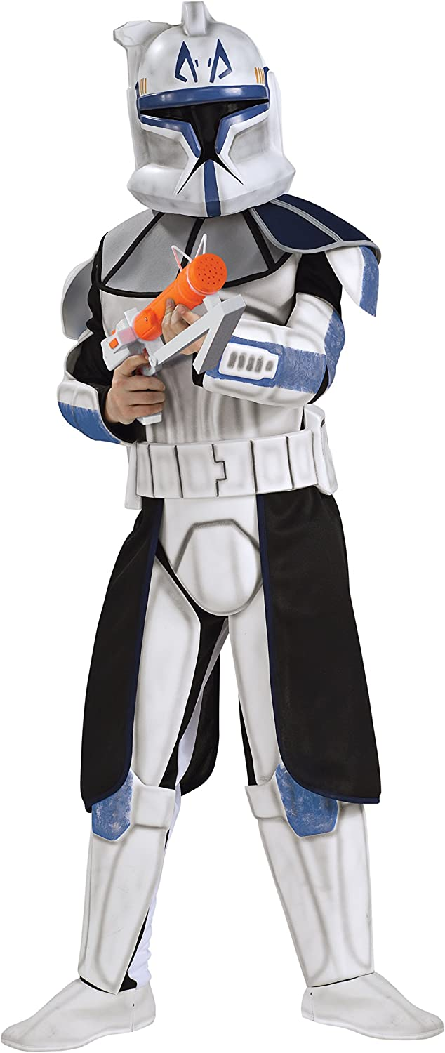 Boys' Deluxe Star Wars  Clone Trooper Captain Rex Costume  UK Large 810 Years