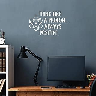 Vinyl Wall Art Decal - Think Like A Proton Always Positive - 17