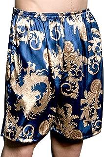 Men's Kimono Satin Boxer Robe Shorts,Luxury Underwear for Gift,Multicolor