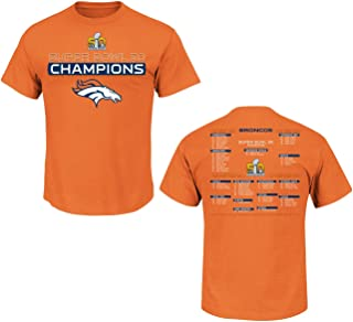 Denver Broncos Super Bowl 50 Champs Championship Way Orange T-Shirt